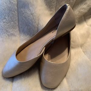 Lucky brand d'orsay flats gold leather